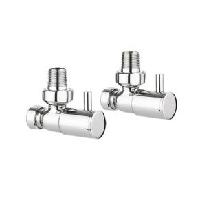 Crosswater Angled Radiator Valves Chrome RADVA1-CP